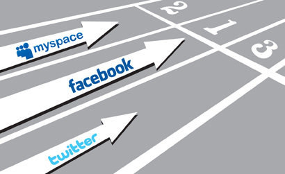 Social Networks Racing to be Number One