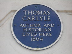 Photo of Thomas Carlyle blue plaque