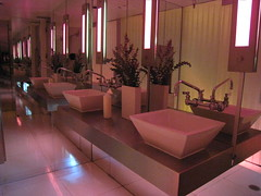 Womens room at Z88 (Dru Bloomfield - At Home in Scottsdale) Tags: bathroom contemporary mirrors sinks z88