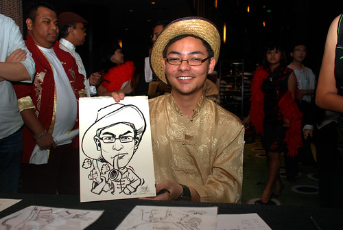 Caricature live sketching for CPGairport D&D - 6