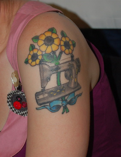 Maker Faire Sewing Machine Tattoo
