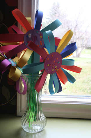 making flowers - step 7