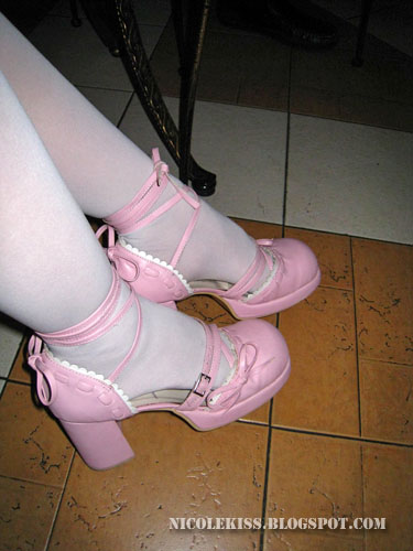 cute lolita pink shoes