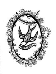 29200 (* Little Circus Design *) Tags: tattoo illustration skulls skeleton pattern decorative australiana floralpattern brushandink thedayofthedead birdimages brushink melbourneart australianart contemporaryillustration blackandwhiteimages thejackywintergroup monochromaticcolour littlecircusdesign madeleinestamer littlebirdsville limitededitiongicleeprints australianillustration contemporaryfolkstyle