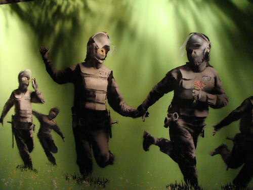 wallpaper urban art. Banksy Desktop Wallpaper
