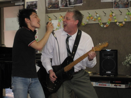 Mr. Hardy and Takamasa rock out