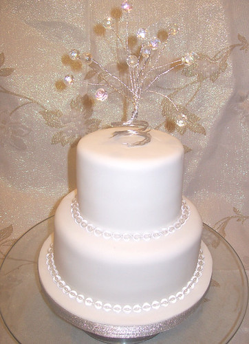 Crystal Topper 2 Tier Wedding Cake - a photo on Flickriver