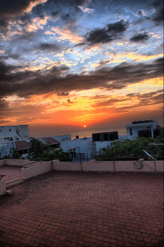 HDR sunrise view from my terrace