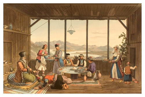 018- Comida en Crisso-Views in Grece 1821
