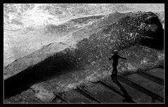 Wave (philwirks) Tags: new bw public interesting cornwall random picnik myfavs philrichards show08