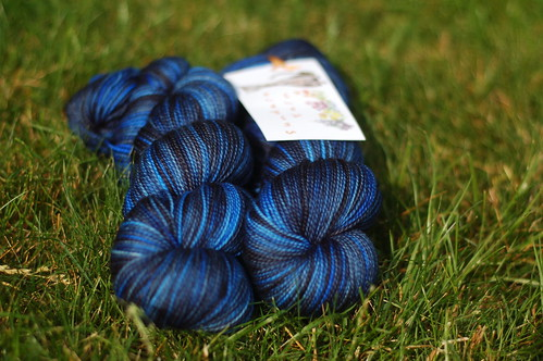Sundara Sock Charcoal over Blue Lagoon