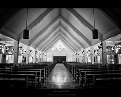 The Reality is God.. (falk3n) Tags: blackandwhite church monochrome photography lights triangle flickr catholic god good stainedglass holy straight lasallete chairsbenches rementilla falk3n