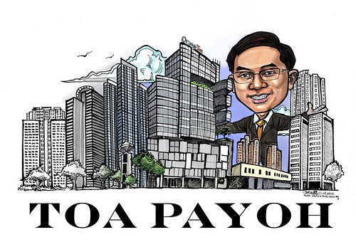 Toa Payoh Property agent Eric caricature digital rendering A3