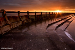 Bathed in Light (Azzmataz) Tags: sun sunrise bay hall open d air tyne wear explore baths tynemouth whitley explored a ©2010 anthonyhallphotographic ©2010adhall