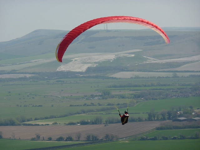 Paraglider near Breach Road