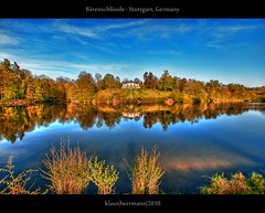 Brenschlssle - Stuttgart, Germany (HDR) (farbspiel) Tags: blue red lake reflection green wet water colors photoshop germany landscape geotagged deutschland photography see spring nikon colorful wasser wideangle landschaft dri deu hdr highdynamicrange settings reflektion workflow schwaben weitwinkel postprocessing badenwrttemberg schwbisch brensee dynamicrangeincrease d90 photomatix tonemapped tonemapping fhling brenschlssle detailenhancer processinginformation hdrprocessing topazadjust topazdenoise klausherrmann sigma1020mmf35exdchsm stuttgartbsnau hdrworkflow geo:lat=4876080024 geo:lon=908886909 hdrpostprocessing