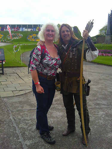 Robin Hood and me at Nottingham Castle