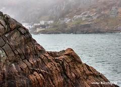 Newfoundland (Karen_Chappell) Tags: ocean house seascape texture rock fog newfoundland landscape geotagged scenery harbour scenic rocky stjohns atlantic shore coastline nfld eastcoast thebattery thenarrows geo:lat=47564557 geo:lon=5268594