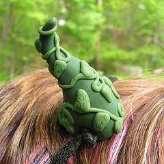 Green Vine Forest Fairy Costume Horns