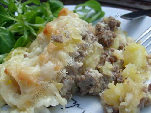 Parmentier de chou-fleur à la viande hâchée / Cauliflower ...