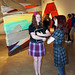 Student docent with Curator of Education Nicole Welch during First Friday's at CAM Raleigh.