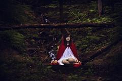 tempora mutantur (explored) (londonscene) Tags: new york girl forest canon 50mm waterfall explore cloak 365 akron