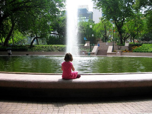 A moment of quiet in Kowloon Park