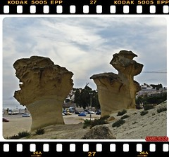BOLNUEVO (Isa Roca) Tags: murcia nostalgia playas rocas tierra mazarron bolnuevo costacalida erosiones olympuse510 paisajedesertico flickraward isabelroca