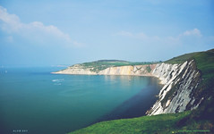 Alum Bay (pRaTuL rAgHaV) Tags: uk sea england bay cliffs colored nikkor sands needles isle vr wight dx alum f3556g 18105mm