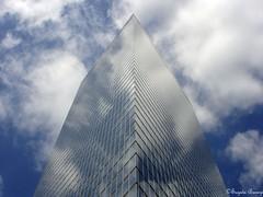 The invisible skyscraper (Joy Forever) Tags: newyorkcity sky usa cloud reflection building glass america skyscraper mirror manhattan
