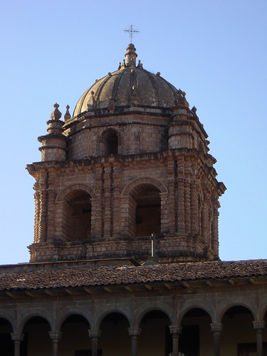 The tower of Convent of Santo Domingo, Cusco