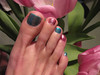 Toes and Tulips (dart5150) Tags: pink feet sparkles cupcakes us toes tulips teal painted pedicure bling ok anawesomeshot goldstaraward