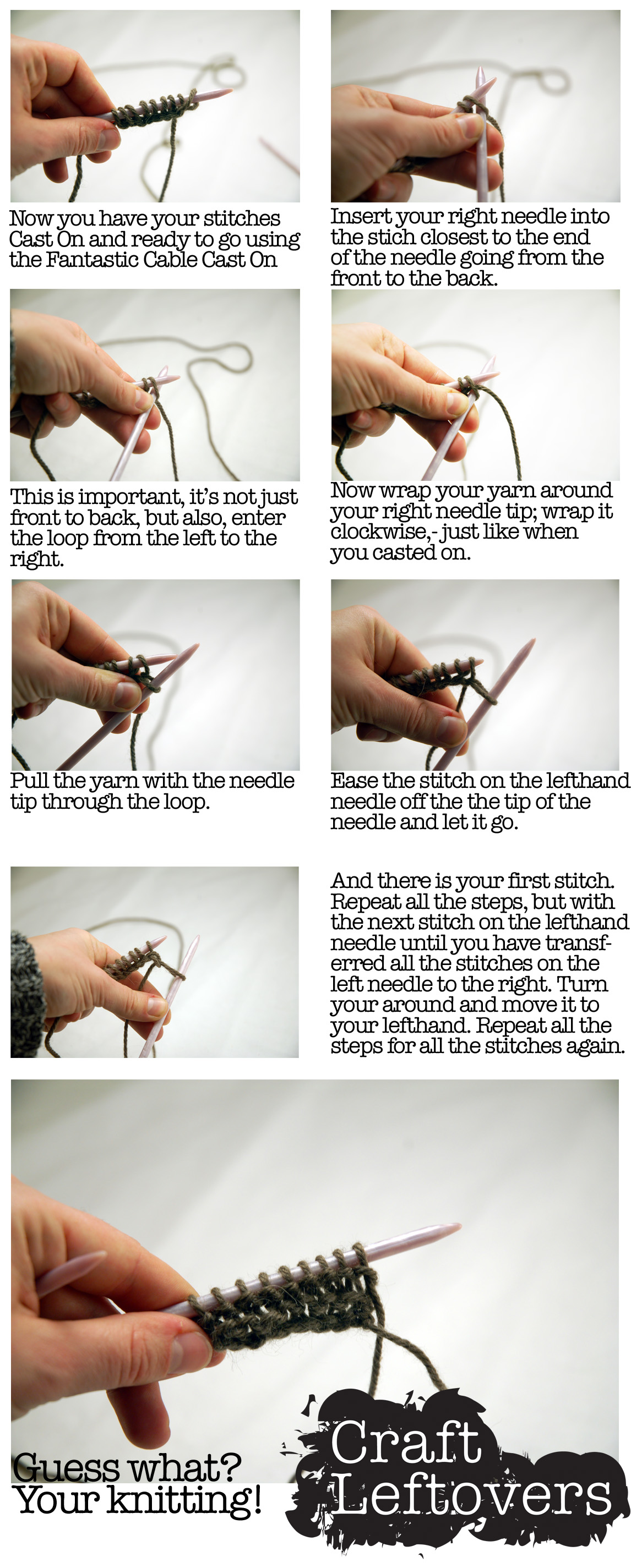 How To Learn Different Knitting Stitches : learn knitting - photos images - Bloguez.com