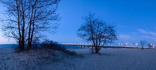 Sopot Pier at dusk