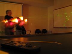 Nerf Gun Firefly: Long Exposure 1 (gonisj) Tags: longexposure office glowinthedark nerf firefly nerfguns
