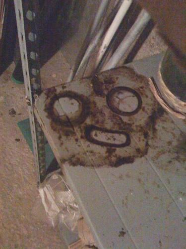 L'omino di sporco in cantina