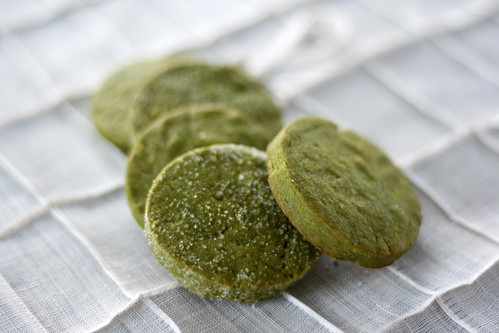 green tea shortbread