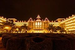 Hongkong Disney Hotel, at night (Dennis Wong) Tags: night garden hongkong hotel disneyland hong kong ultrawide sigma1020mmf456