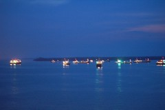 Straits of Malacca At Night
