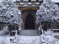 Church in the snow 1