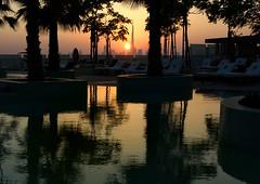 sunset pool (Steve Toner) Tags: travel sunset holiday sunsetonwater pools