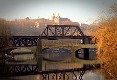 Bridge over Lehigh River (MBH Pa) Tags: bridge reflection nature
