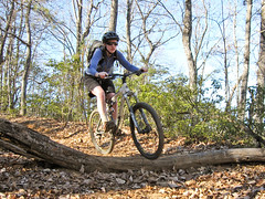 Amie mountain biking Trace Ridge (Mat and Amie) Tags: mountainbiking northmillsriver traceridge