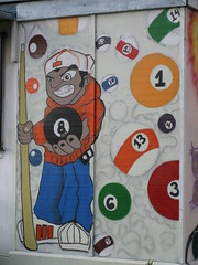 Behind the eight ball (dschweisguth) Tags: sanfrancisco mural foundinsf