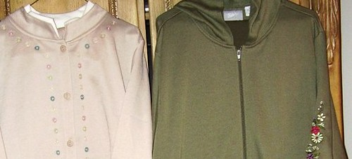 Active & Leisure Wear- Jog Sets-#1 Beige, #2 Olive CloseUp