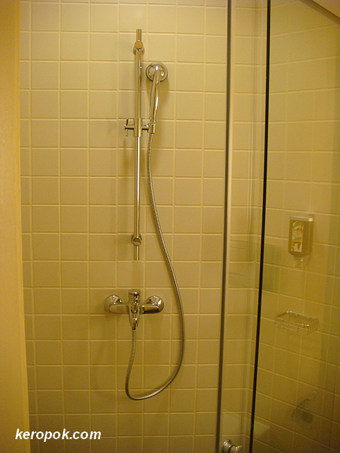 No Grohe but good enough to shower.