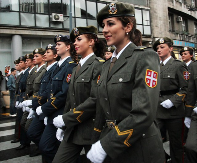 Serbian Female Soldiers