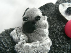 ... and Tiny (sugarpunk) Tags: stuffedtoy toy recycled plush softie plushie etsy