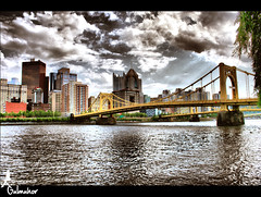 Downtown Pittsburgh...... (Z!@) Tags: pittsburgh zia hdr spiritofphotography aplusphoto highmark skyline pittsburghskyline alleghenyriver