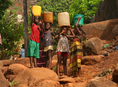 Children Carrying Water, Freetown by AdamCohn